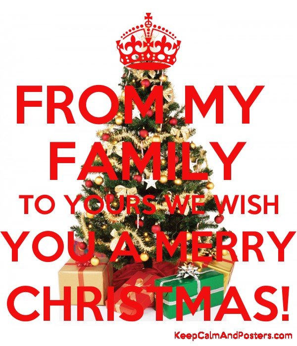 from my family to yours we wish you a merry christmas poster