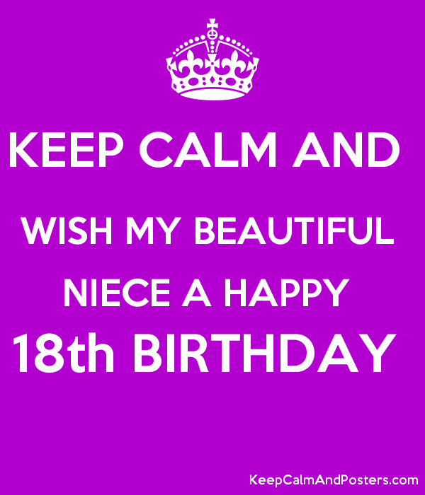 Brilliant Keep Calm And Wish My Beautiful Niece A Happy 18Th Birthday Keep Funny Birthday Cards Online Alyptdamsfinfo