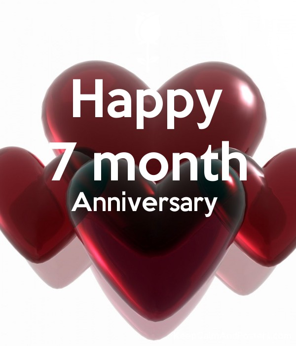 happy 7 month anniversary keep calm and posters generator maker