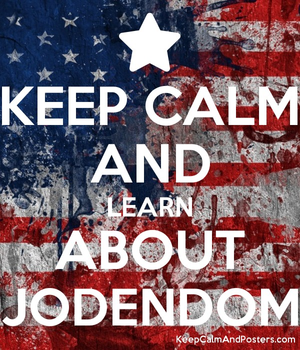 KEEP CALM AND LEARN ABOUT JODENDOM Poster