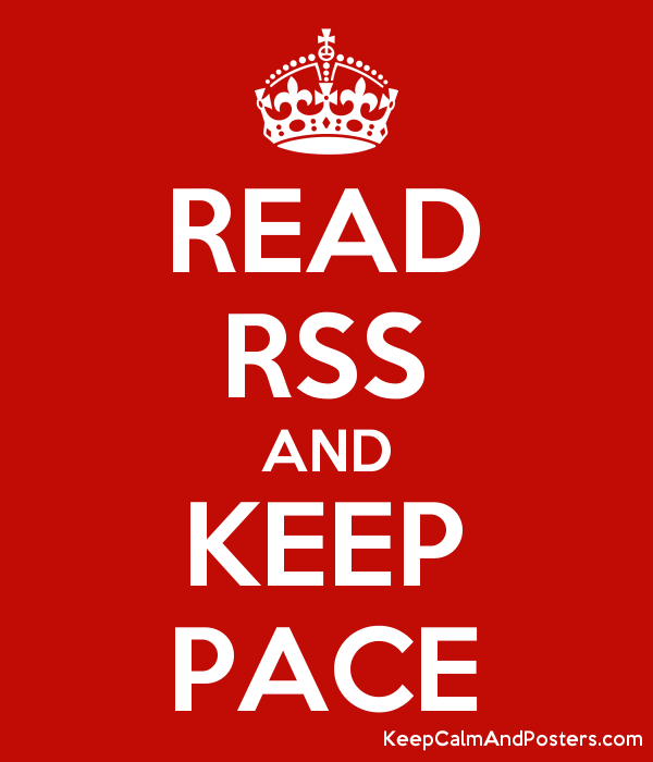 READ RSS AND KEEP PACE Poster