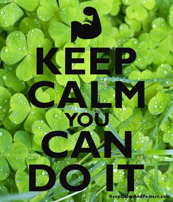 KEEP CALM YOU CAN DO IT Poster