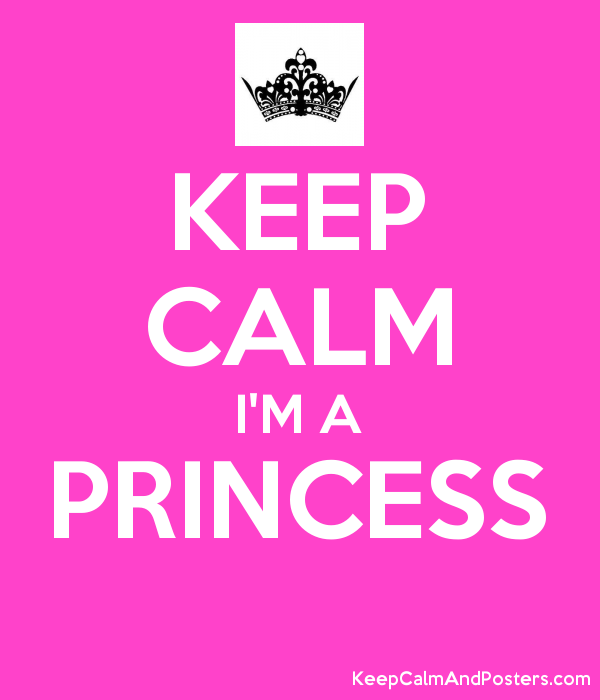 KEEP CALM I'M A PRINCESS  Poster