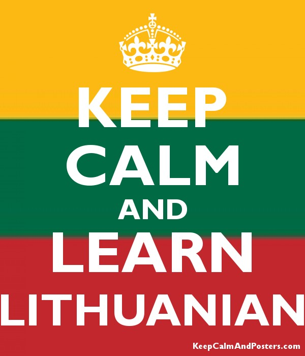 Keep Calm And Learn Lithuanian Poster