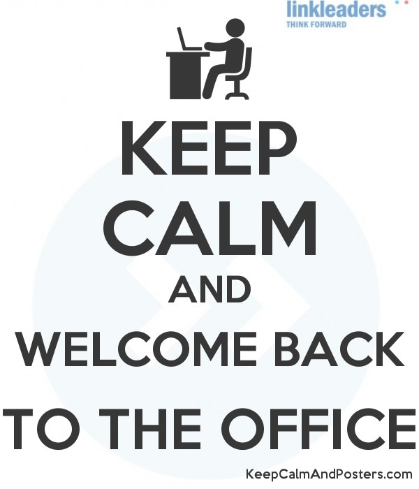 the office poster. KEEP CALM AND WELCOME BACK TO THE OFFICE Poster The Office