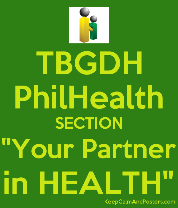 "TBGDH PhilHealth SECTION ""Your Partner in HEALTH"" Poster"