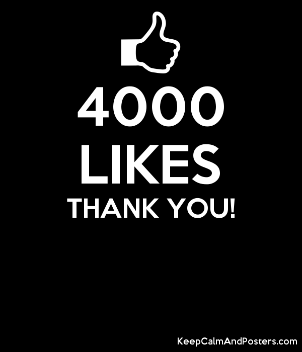 4000 likes thank you keep calm and posters generator maker for