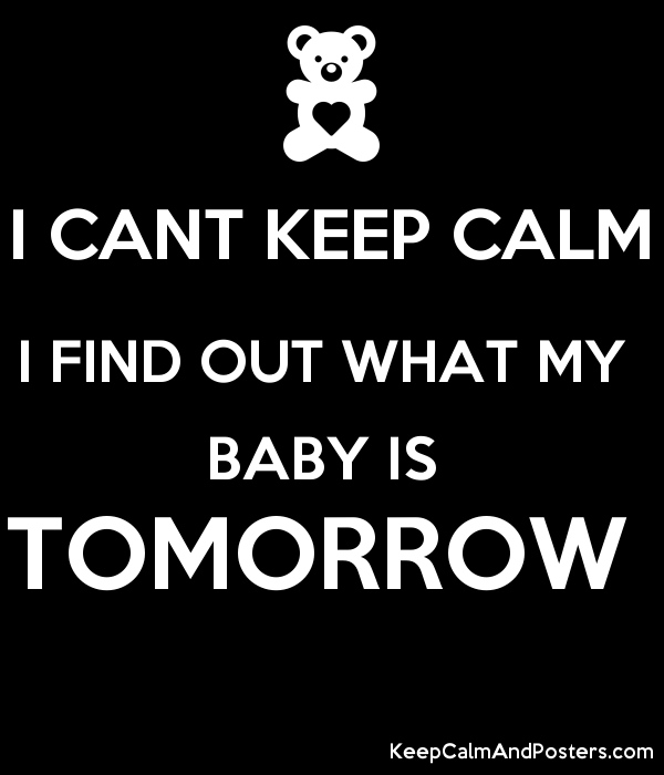 i cant keep calm i find out what my baby is tomorrow