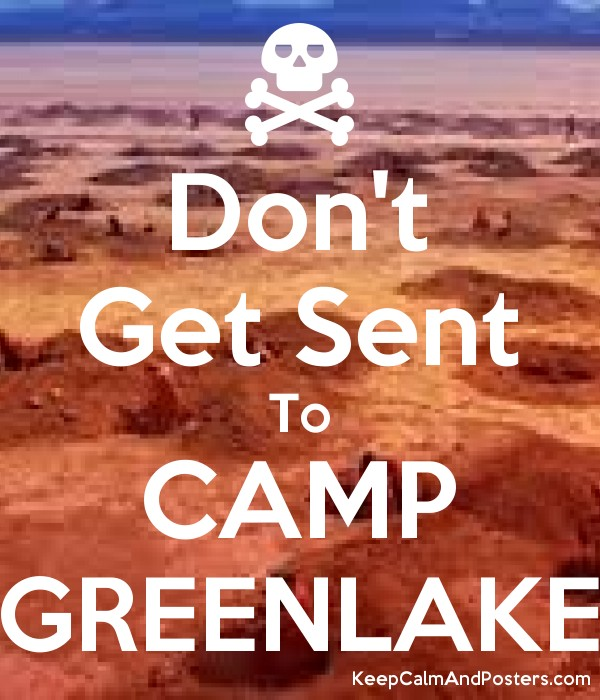 don t get sent to camp greenlake keep calm and posters generator
