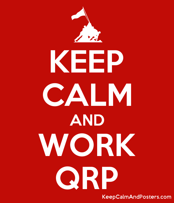 KEEP CALM AND WORK QRP Poster
