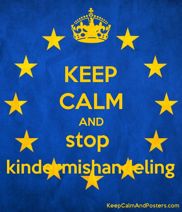 KEEP CALM AND stop  kindermishandeling Poster