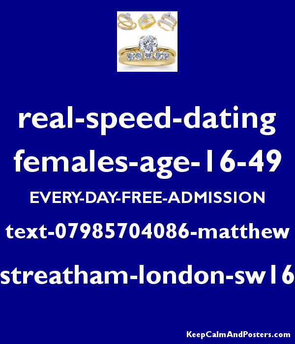 speed dating sw london
