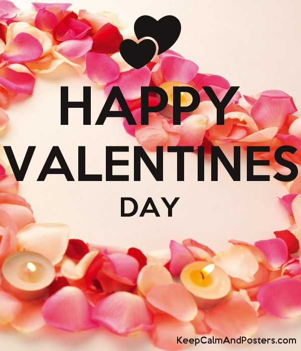 Happy Valentines Day Keep Calm And Posters Generator Maker For
