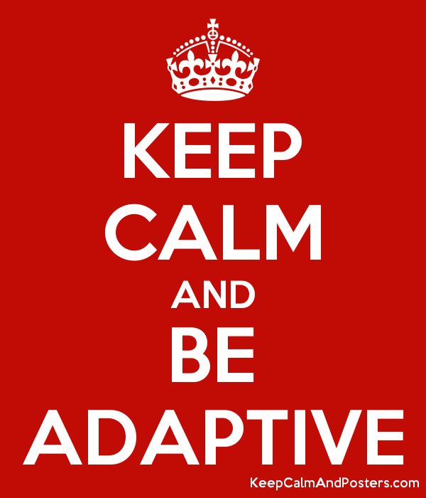 KEEP CALM AND BE ADAPTIVE - Keep Calm and Posters Generator, Maker ...