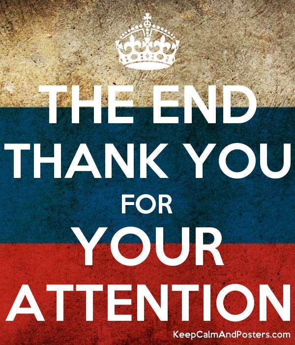 the end thank you for your attention keep calm and posters
