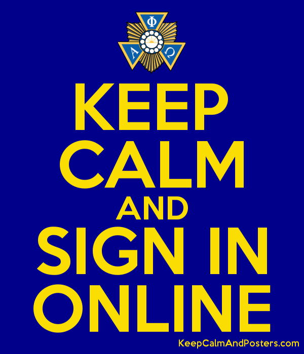 KEEP CALM AND SIGN IN ONLINE - Keep Calm and Posters Generator