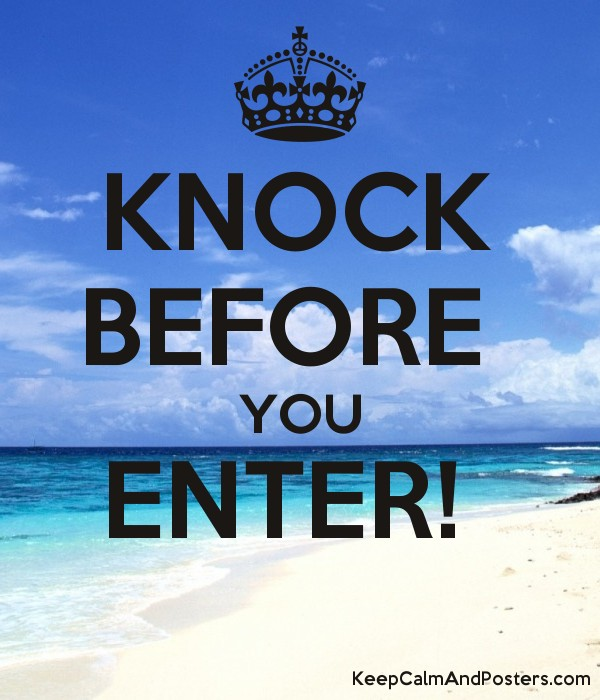 knock before you enter keep calm and posters generator maker for