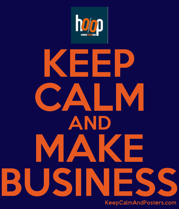 keep calm and make business poster