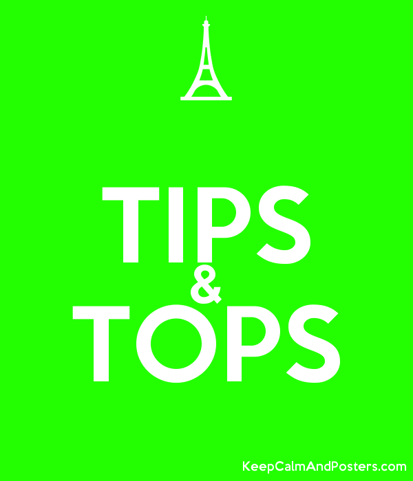 TIPS & TOPS - Keep Calm and Posters Generator, Maker For Free
