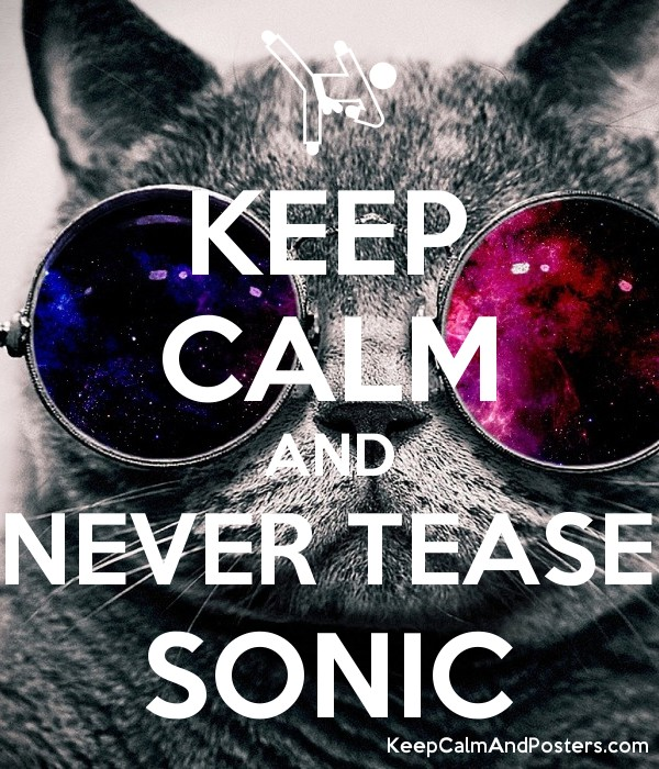 KEEP CALM AND NEVER TEASE SONIC - Keep Calm and Posters Generator