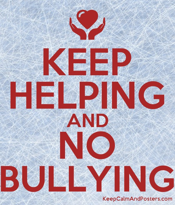 keep helping and no bullying keep calm and posters generator