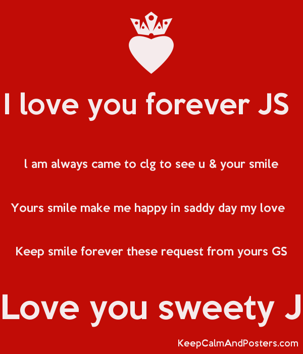 I Love You Forever Js L Am Always Came To Clg To See U Your Smile