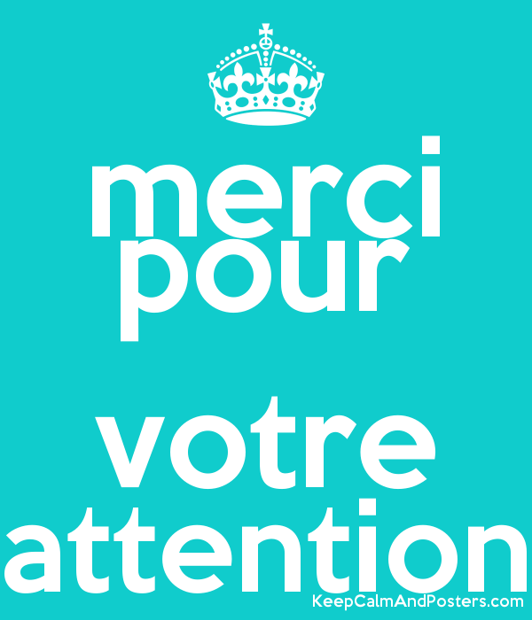 Merci Pour Votre Attention Keep Calm And Posters Generator