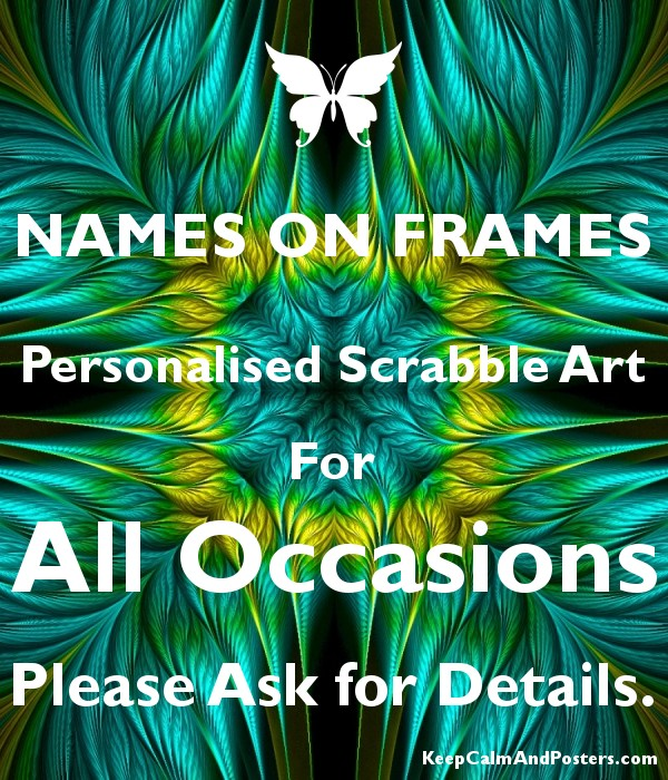NAMES ON FRAMES Personalised Scrabble Art For All Occasions Please