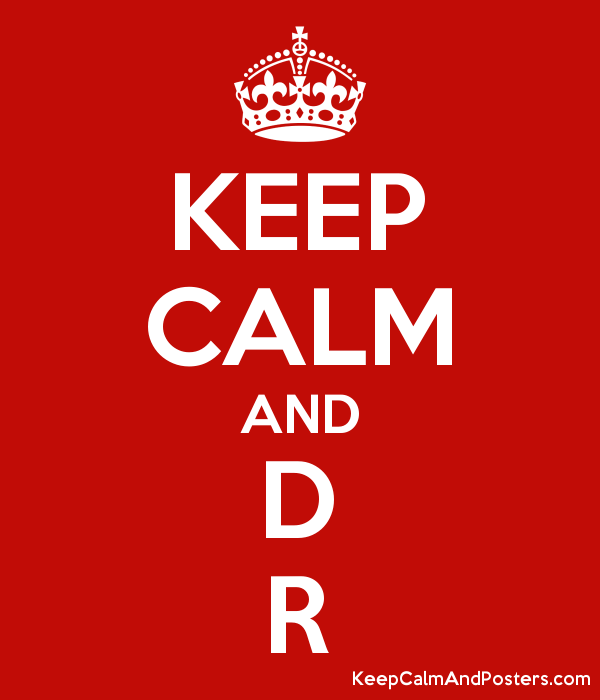 KEEP CALM AND D R Poster