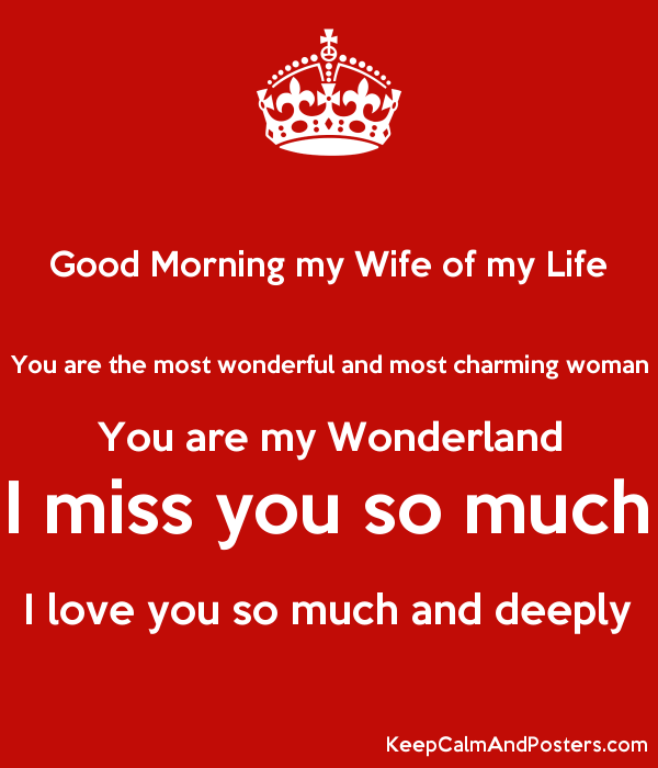 Love Morning My Wife