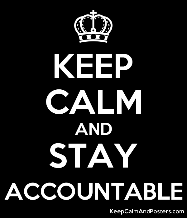 Image result for Stay Accountable