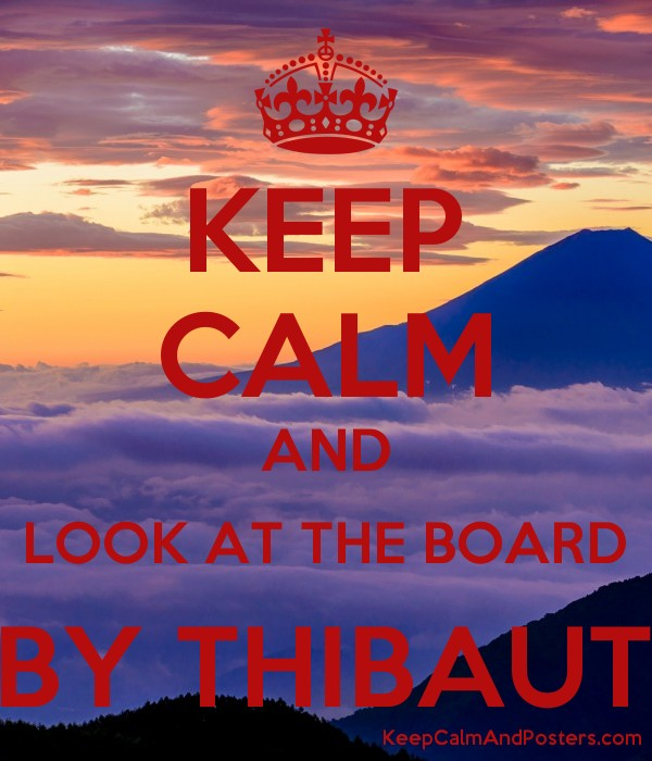 keep calm and look at the board by thibaut keep calm and posters