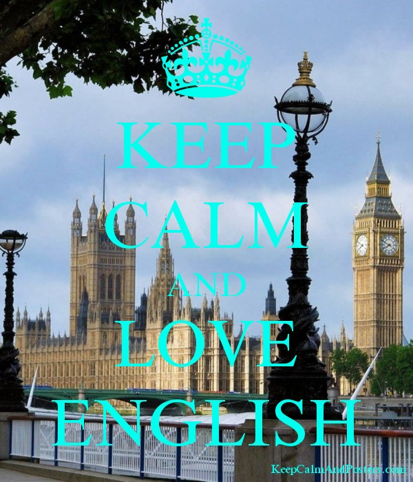 KEEP CALM AND LOVE ENGLISH Poster