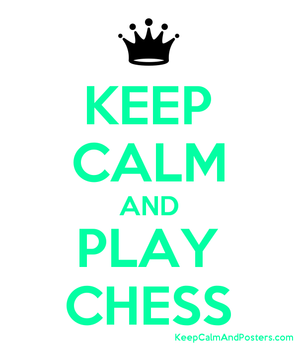 KEEP CALM AND PLAY CHESS Poster