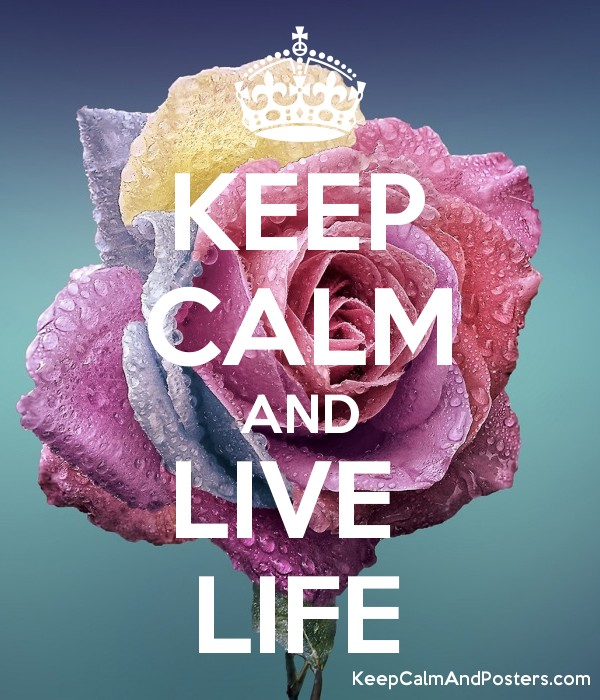 KEEP CALM AND LIVE  LIFE Poster