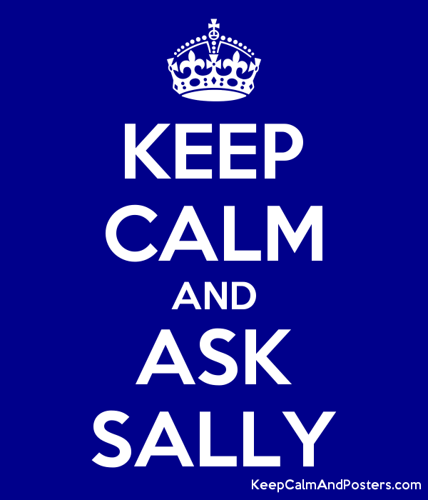 KEEP CALM AND ASK SALLY Poster