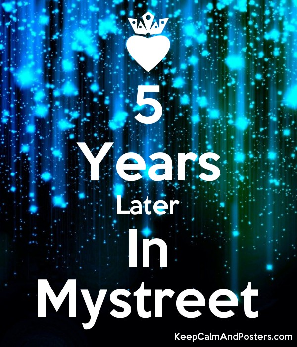 5 Years Later In Mystreet - Keep Calm and Posters Generator