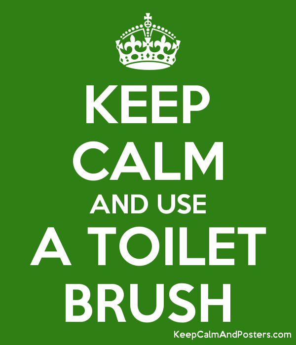 KEEP CALM AND USE A TOILET BRUSH Poster