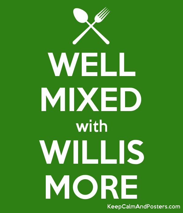 WELL MIXED with WILLIS MORE Poster