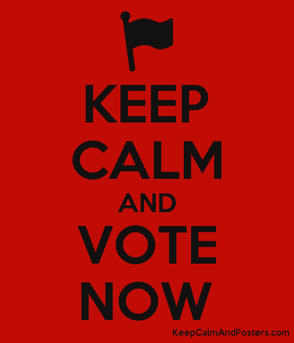 KEEP CALM AND VOTE NOW Poster