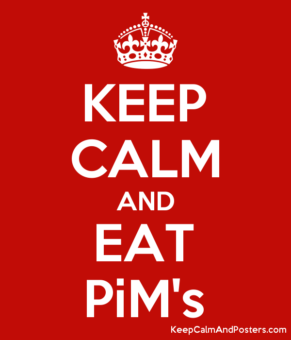 KEEP CALM AND EAT PiM's Poster