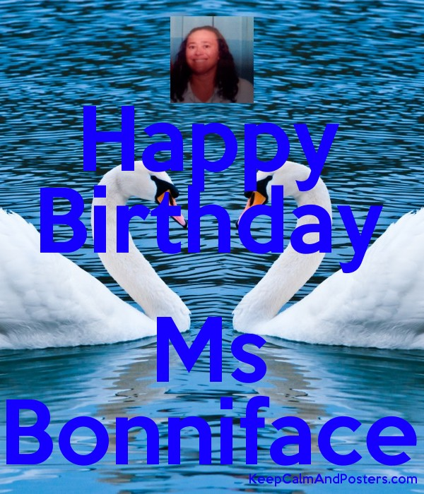 Happy Birthday  Ms Bonniface Poster