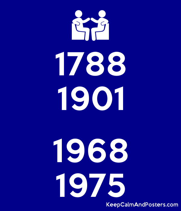 1788 1901  1968 1975 Poster