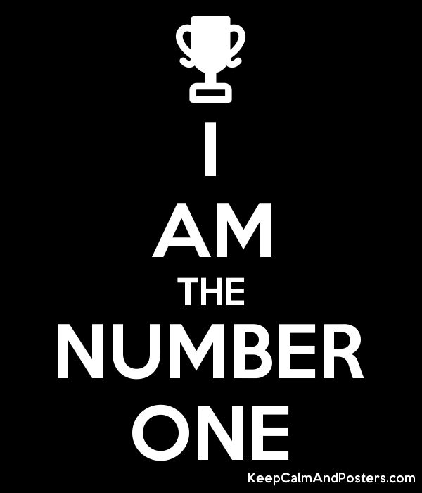 I AM THE NUMBER ONE Poster