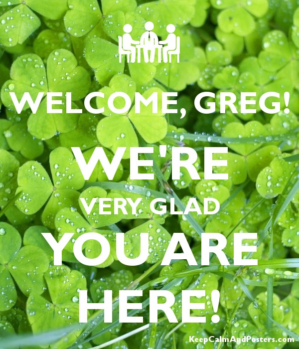 Gregory welcome