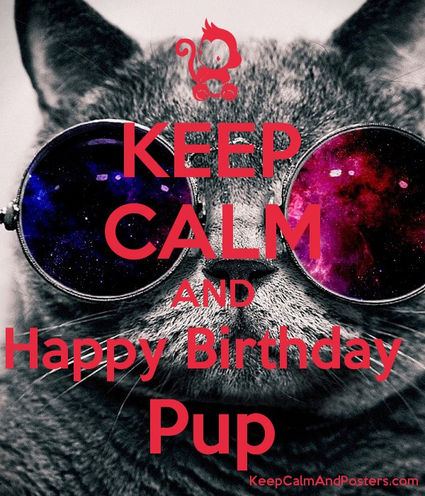 KEEP CALM AND Happy Birthday  Pup Poster