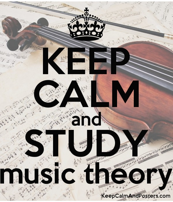 KEEP CALM and STUDY music theory Poster
