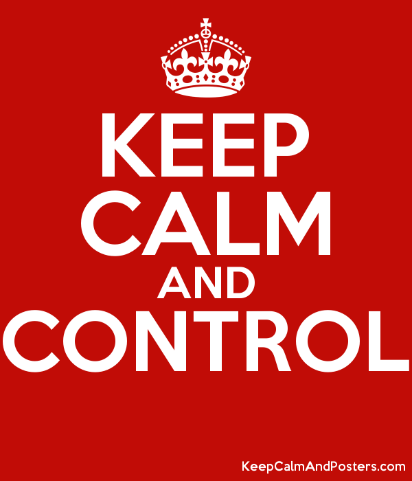 KEEP CALM AND CONTROL  Poster
