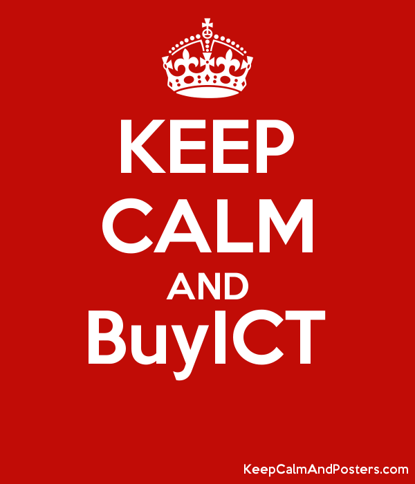 KEEP CALM AND BuyICT  Poster