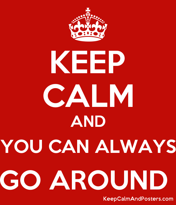 KEEP CALM AND YOU CAN ALWAYS GO AROUND  Poster